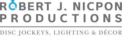 Chicago Wedding DJ | Robert J. Nicpon Productions Retina Logo